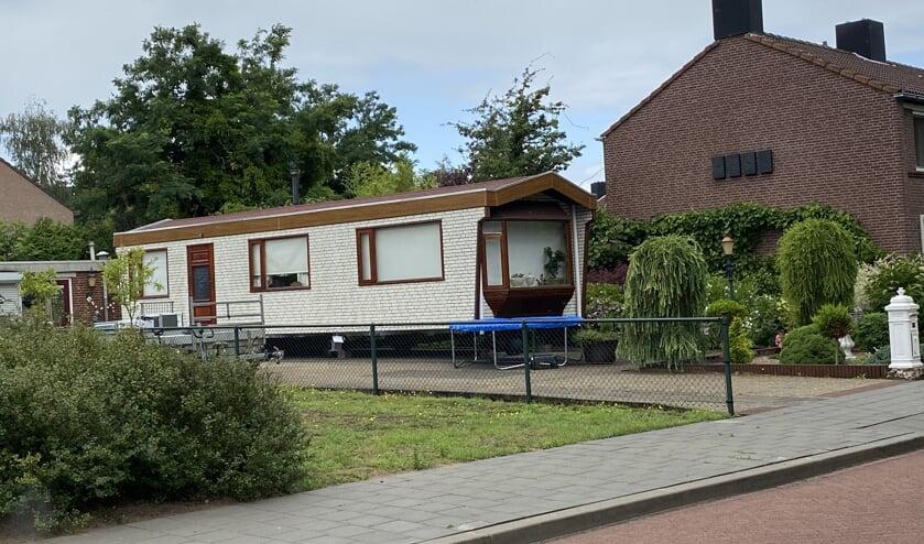 De woonwagenstandplaats aan de Davidlaan in Gennep. (foto: Jos Gröniger)