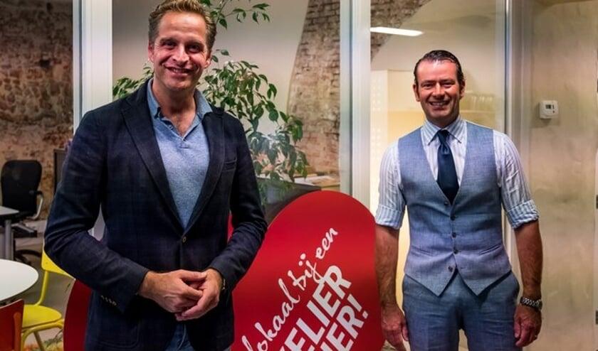 Hugo de Jonge en CDA-raadslid Sidney van den Bergh. (Foto: Jack van Lieshout)