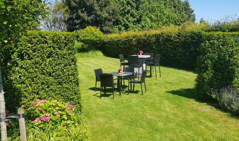 Bij goed weer vind het evenement plaats in de tuin.