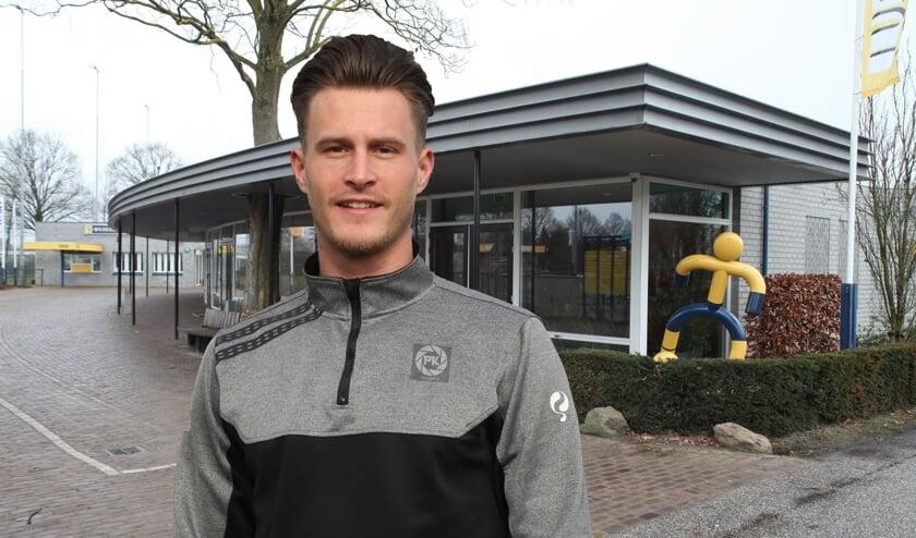 Jordy Zielschot hoopt volgend jaar de eerste keeper van Blauw Geel te worden.