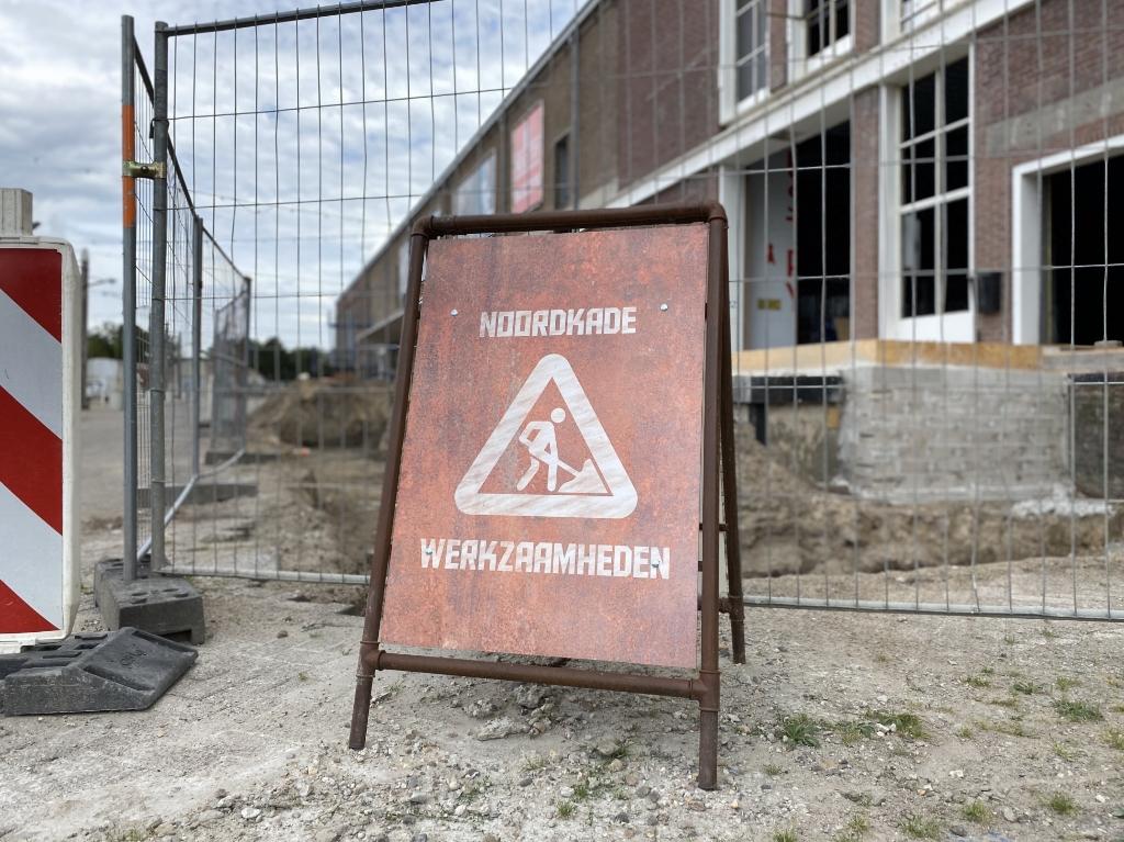 Werkzaamheden op de Noordkade. Foto:  © Kliknieuws Veghel