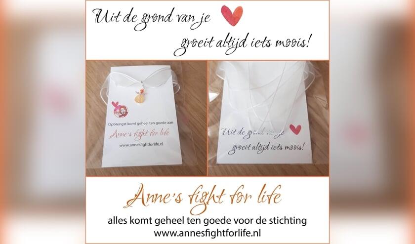 Marion Reefs uit Vierlingsbeek en Marianne van Boekholt van Mijn Melodie uit Boxmeer, gaan armbandjes verkopen om geld in te zamelen voor Anne