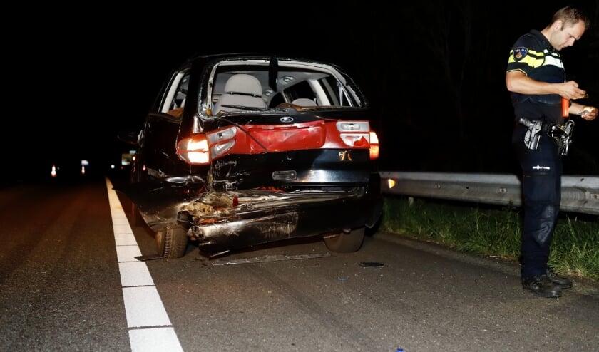 Beide voertuigen zijn hierdoor total loss verklaard maar er is niemand gewond geraakt.