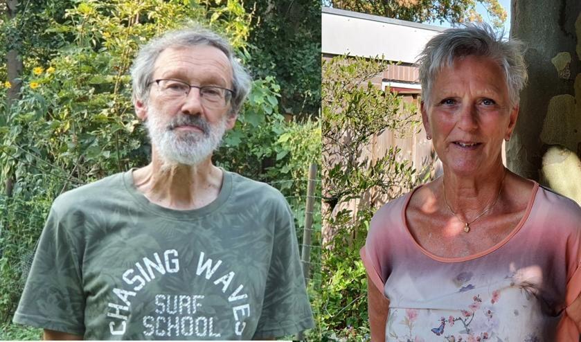 Twee vrijwilligers: Pieter Bemer en Greet Lamers.