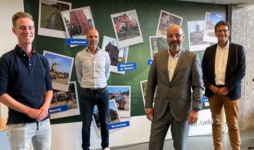 Vlnr: Joep Baltussen, Mark Hendrikx, Rob Poel en Gerard de Baaij.
