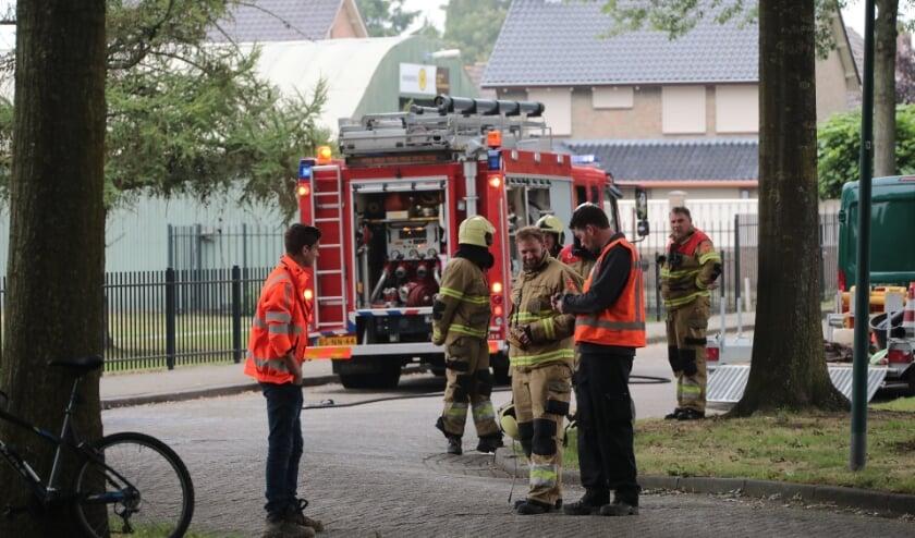 Gaslek bij werkzaamheden in Berghem. (Foto: Charles Mallo, Foto Mallo)