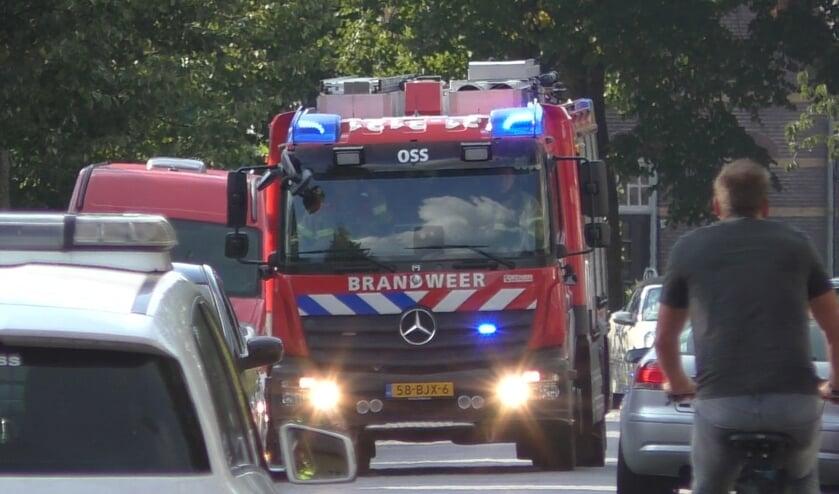 Brandweer naar scooterbrand, maar voertuig wordt niet aangetroffen. (Foto: Thomas)