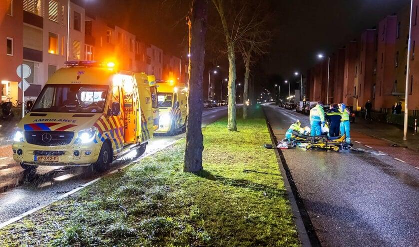 Dodelijk ongeval op Nieuwe Hescheweg. (Foto: Gabor Heeres, Foto Mallo)
