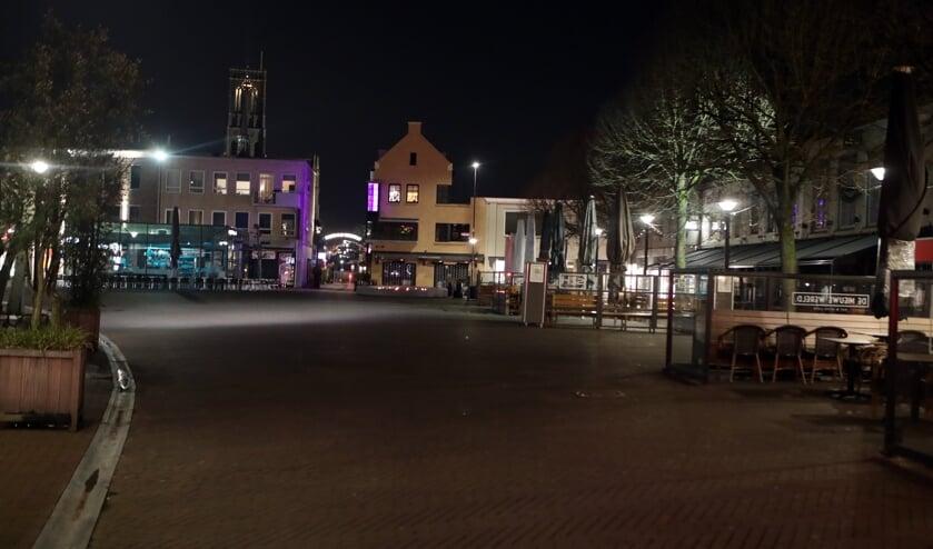 De avondklok in het Osse centrum.