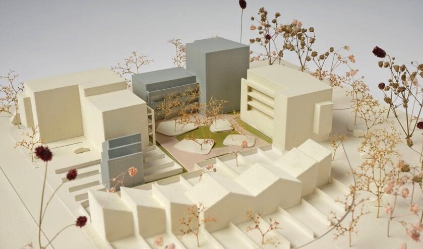 <p>De maquette geeft een goed beeld van de plannen en idee&euml;n. (Beeld Studiospacious, maquettefotografie Tim Stet.)</p>