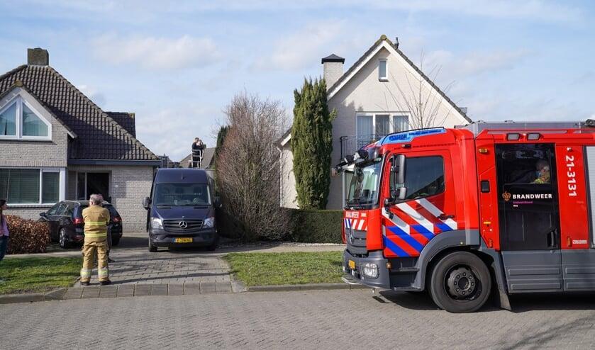 Brandweer in de Wijkerstein. (Foto: Gabor Heeres, Foto Mallo)
