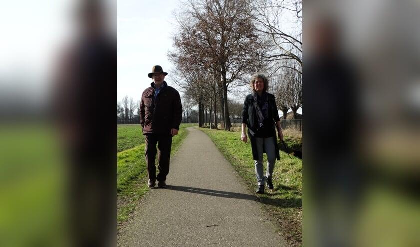 <p>Cor Baaij en Doreen de Hoog twee initiatiefnemers van Herenboeren Land van Cuijk</p>