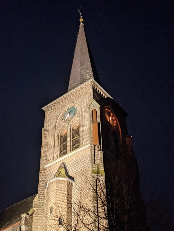<p>De kerktoren in Megen.</p>