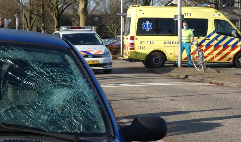 Ongeval op de Vivaldistraat in Oss. (Foto: Thomas)