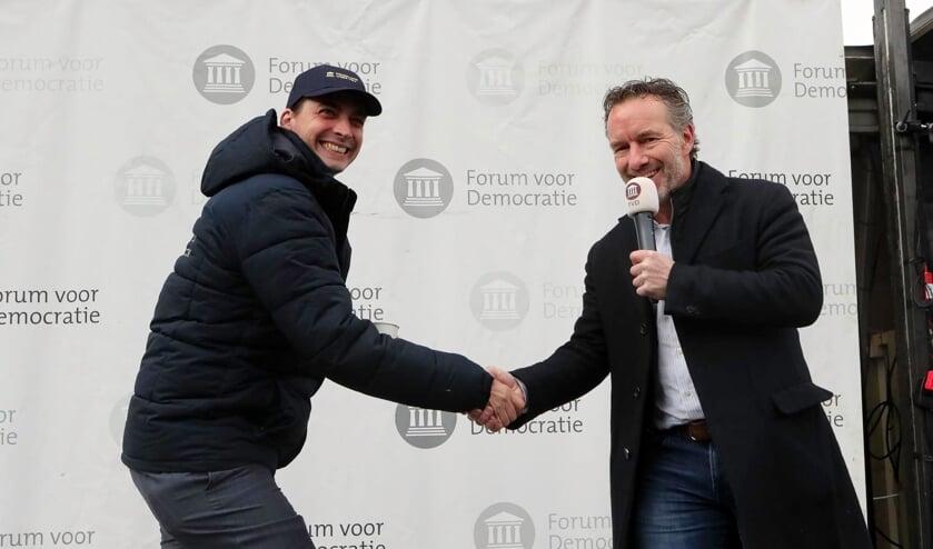 <p>Thierry Baudet en Wybren van Haga. (Foto: Hans van der Poel)</p>