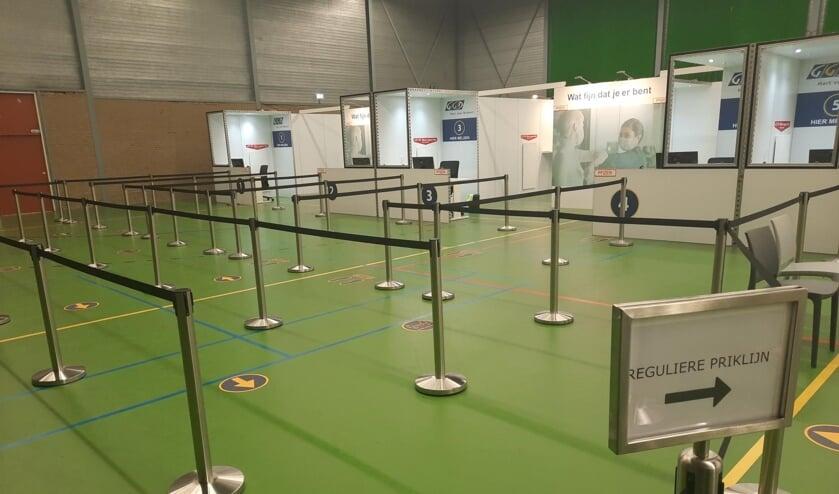 <p>De vaccinatielocatie in Sportcentrum Berghem.</p>