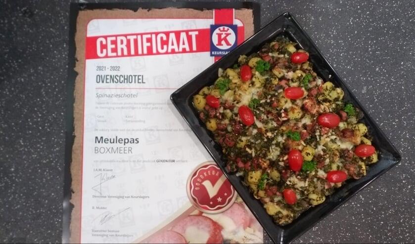 <p>Mede door het gebruik van de lekkerste grondstoffen is de ovenschotel van Keurslagerij Meulepas bekroond met de hoogst haalbare score.&nbsp;</p>