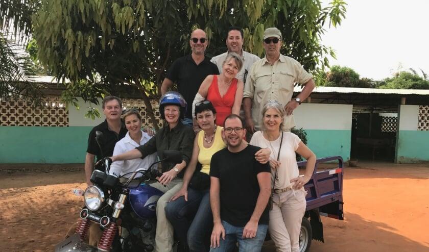 Het bestuur van Peuple du Monde op werkbezoek in Benin.