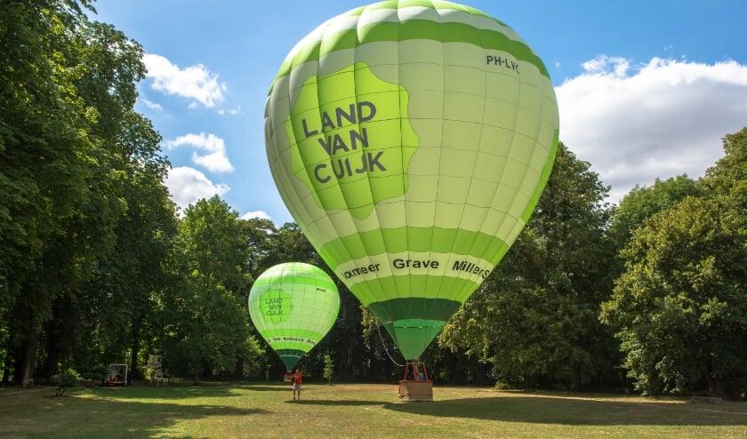 Paschal Noor gaat vanaf het park ballonvaarten organiseren.