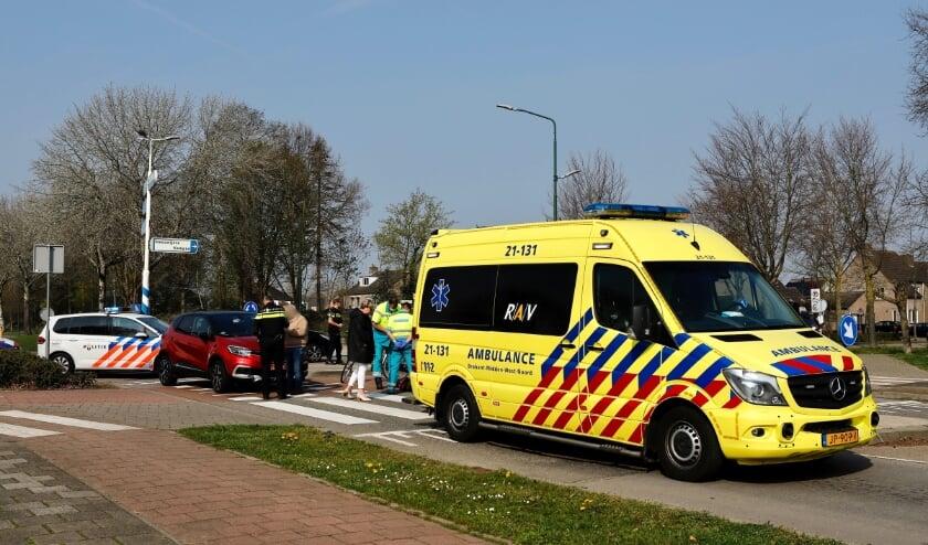 De vrouw kon zelf naar de ambulance lopen.