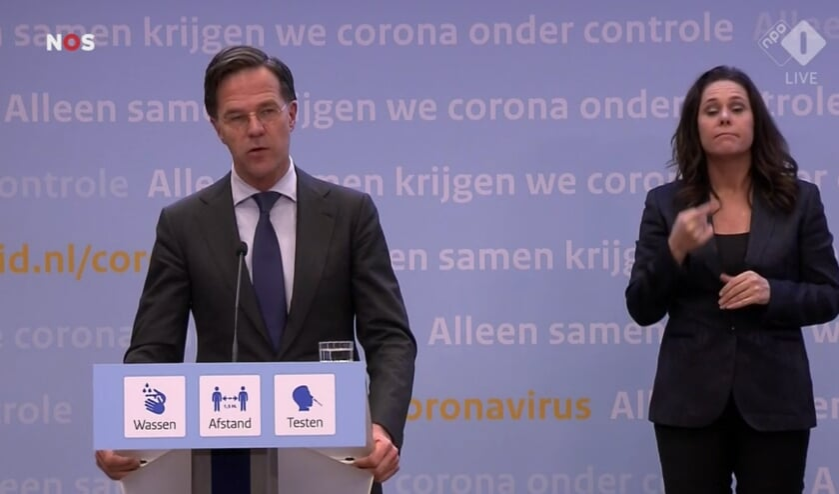 <p>Mark Rutte aan het woord.</p>