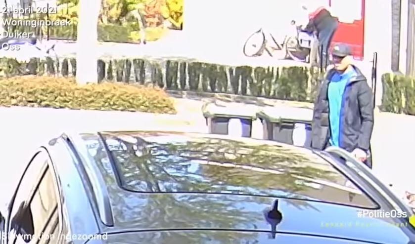 Inbreker in Duiker. (Foto: politie Oss, Facebook)