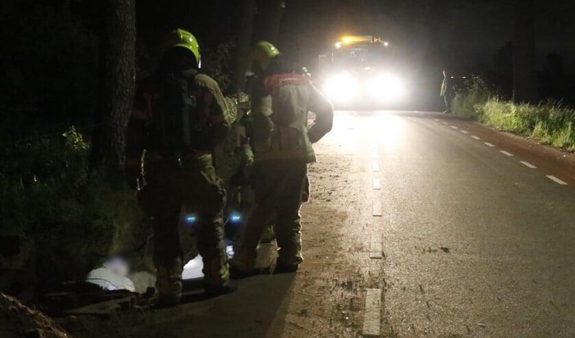 De brandweer was vlot ter plaatse om het lek te dichten.