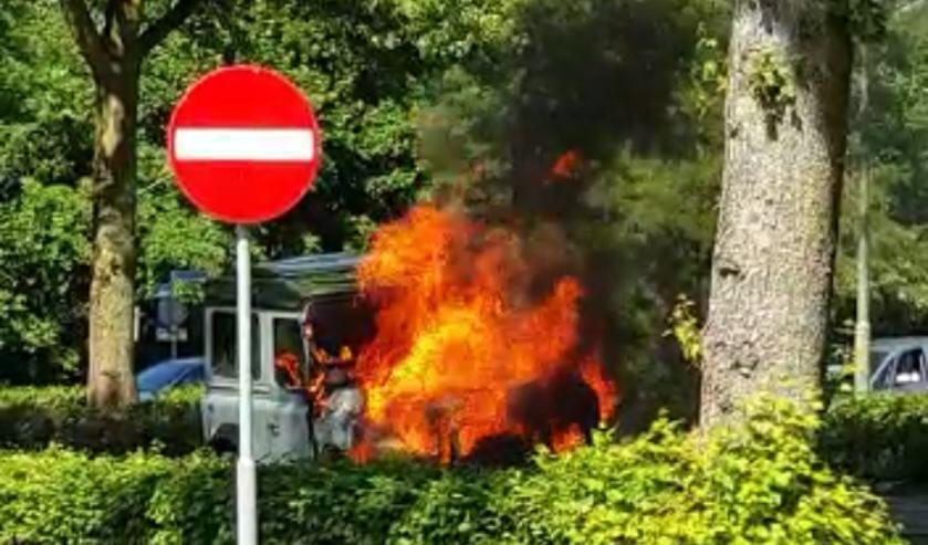 Autobrand in Herpen. (Foto: Patryk)