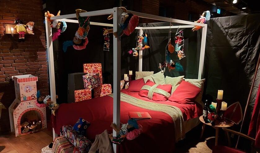 <p>De knusse slaapkamer van de Sint in Muller & Co.</p>