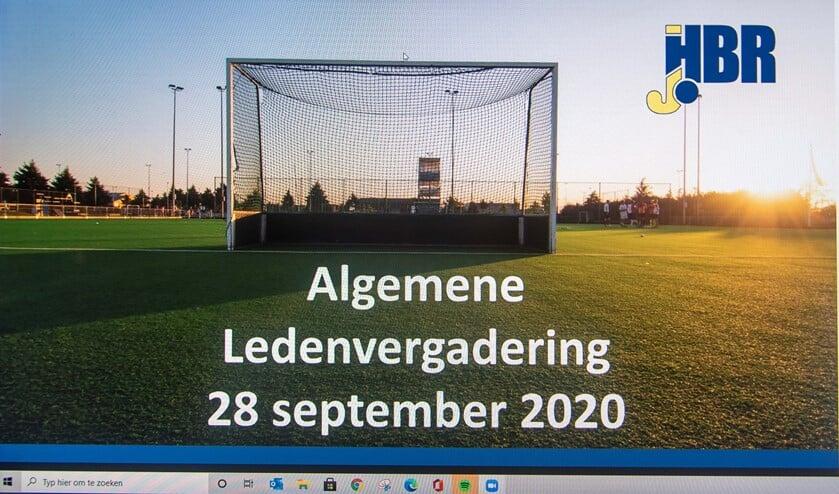 <p>Een screenshot van de Zoombijeenkomst. De ALV van HBR werd volledig digitaal afgetikt. (Foto: Erik van Dort)</p>