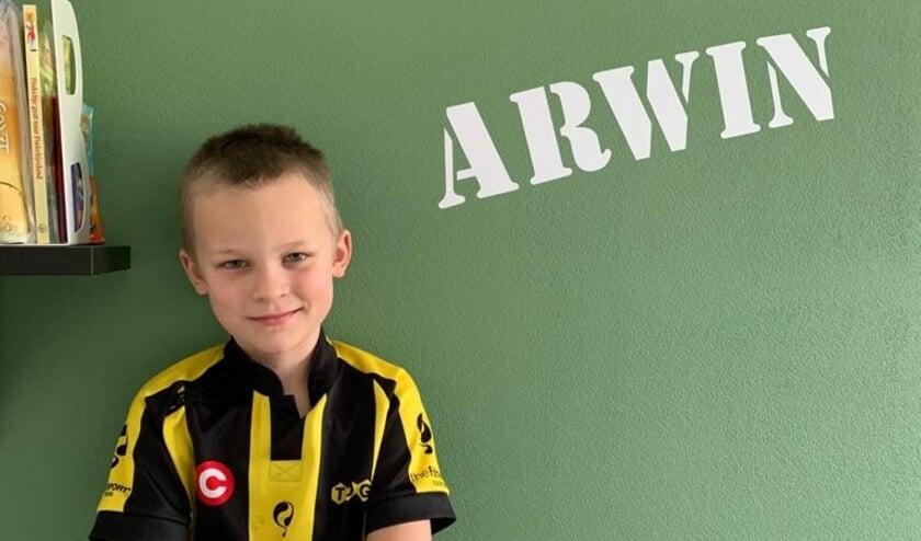 <p>Arwin heeft zijn beste beentje voorgezet om zijn club TOGB te helpen.</p>