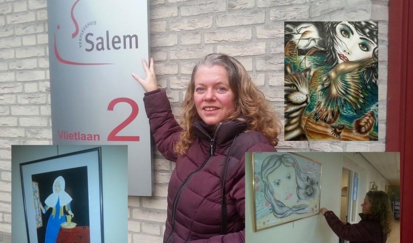 Meriska van Hof heeft werken opgehangen bij Salem