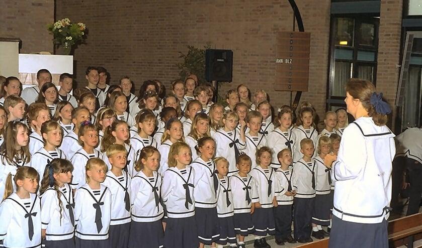 <p>In de hoogtijdagen werd gezongen met honderden kinderen</p>