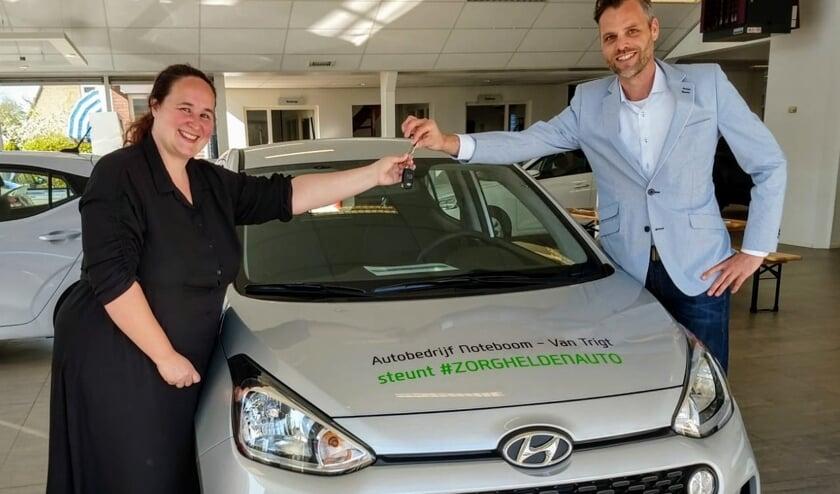 Autobedrijf Noteboom & Noteboom-Van Trigt stelde gratis auto's beschikbaar aan zorgverleners.