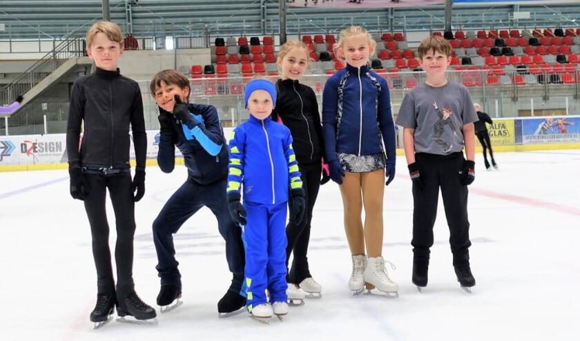 Lekker schaatsen in de zomervakantie.