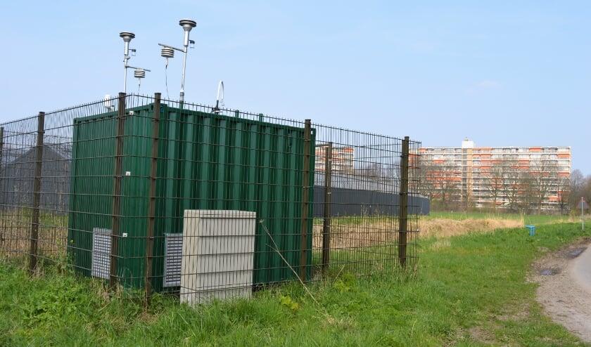 <p>Het meetstation voor de luchtkwaliteit aan de Hogeweg, een van de twee stations die er in Ridderkerk te vinden zijn.&nbsp;</p>