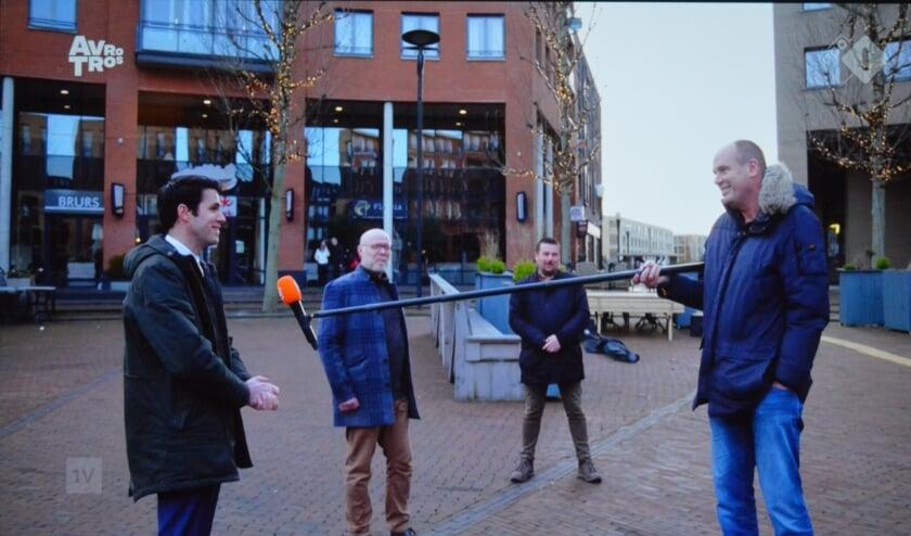 <p>De wethouders Proos, Goedknegt en Van Os werd ge&iuml;nterviewd voor &quot;EenVandaag&quot; op het Koningsplein.</p>