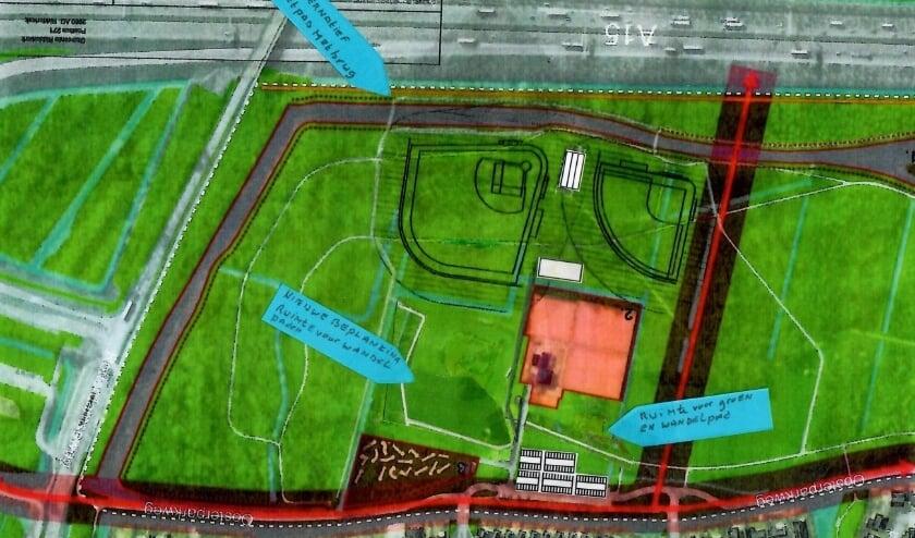 <p>De door de bewonersgroep Tarbot voorgestelde locatie Nieuw Zuid.</p>