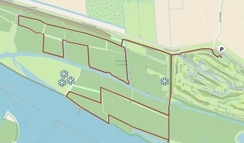 <p>Sterretjes geven belangrijke groeiplaatsen van zomerklokjes aan.</p>