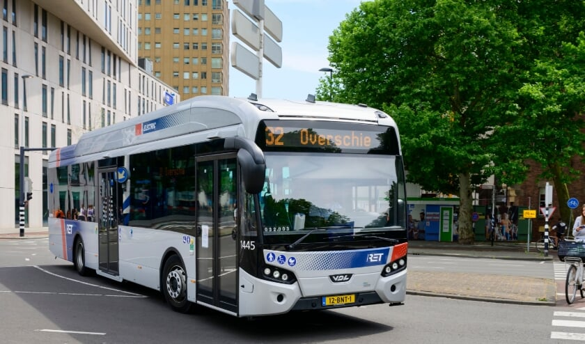 <p>Zero emissie bus van de RET. (foto: Rick Keus / RET) </p>