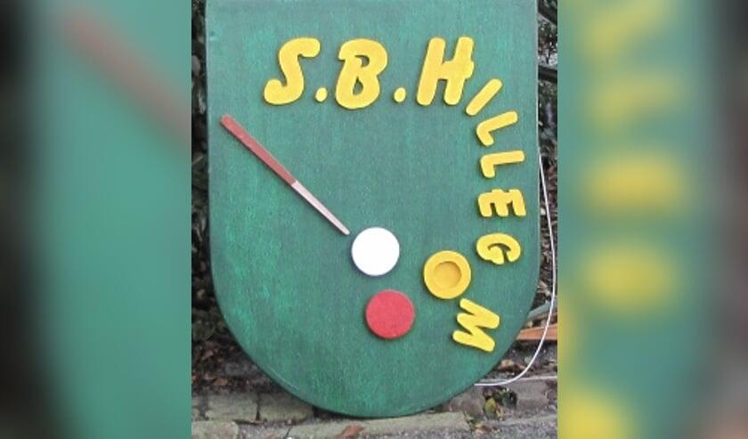 Het wapen van de Senioren Biljartclub Hillegom. | Foto: Jacolien van der Valk.