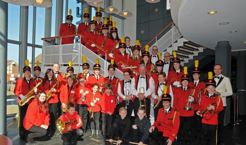 Het jubilerende fanfare-orkest Excelsior geeft samen met Excelsior Hagestein een jubileumconcert in de Oude Jeroenskerk. | Foto: PR