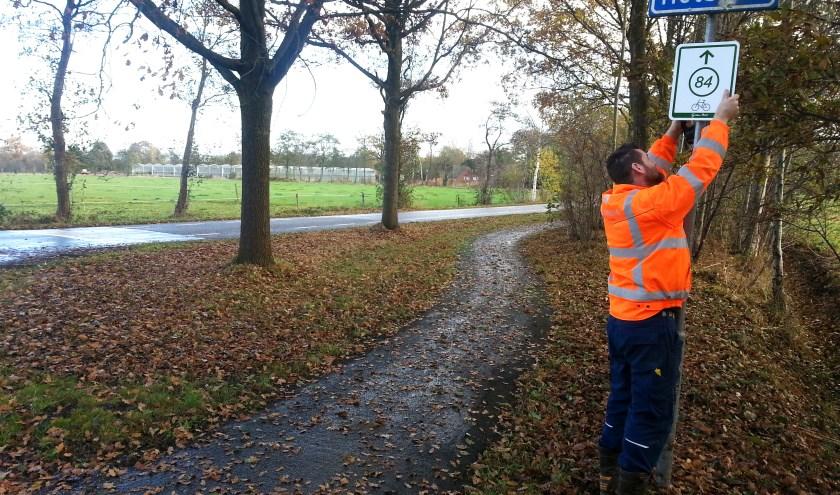In november en december gaan de routebordjes van het fietsknooppuntennetwerk  op de schop. | Foto: PR