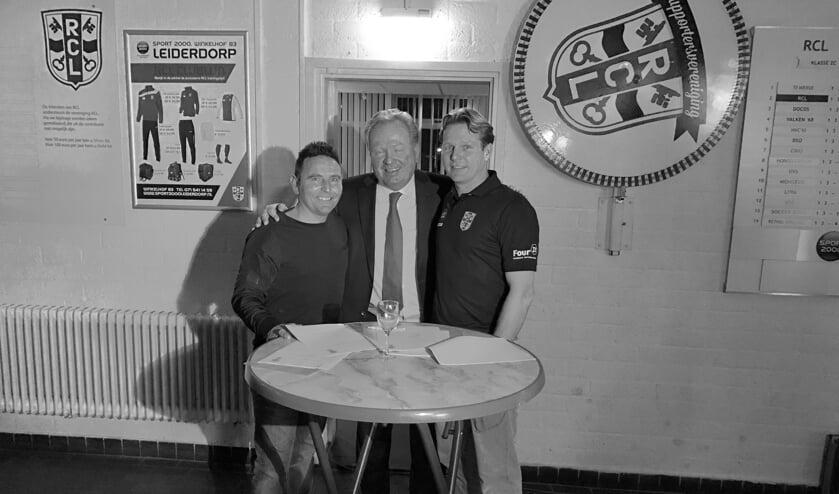 V.l.n.r. Henk Buijn, Kees van der Burg en Stefan Luykx.   Foto: René van Giezen