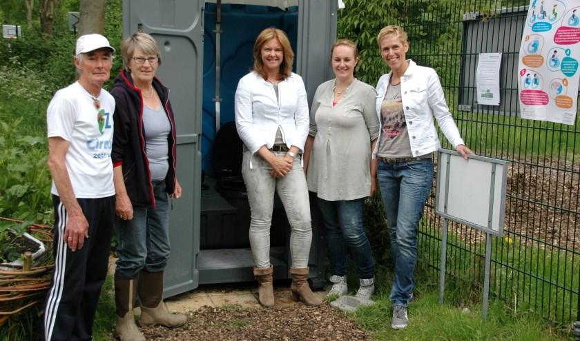 Het eerste jaar, 2014, sponsorde BekkenFysioTherapie Leiderdorp het mobiele toilet. | Archieffoto