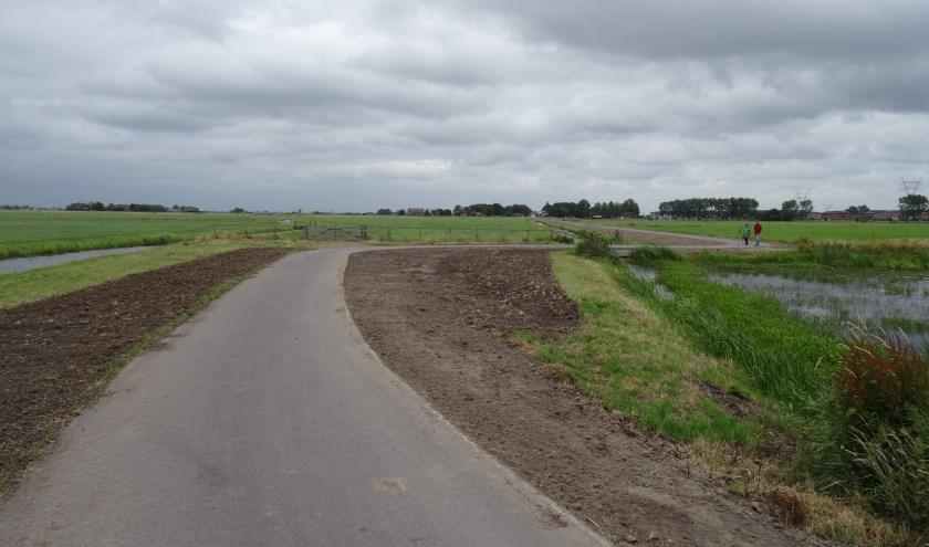 De paden in het Leiderdorpse deel van de polder zijn al in 2012  aangelegd.