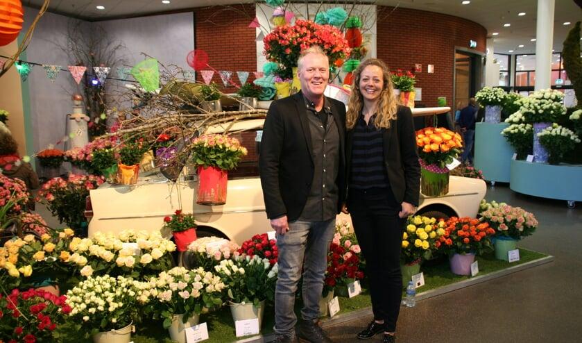 Fer Schoneveld en Janneke de Jong staan letterlijk en figuurlijk voor de Roos.