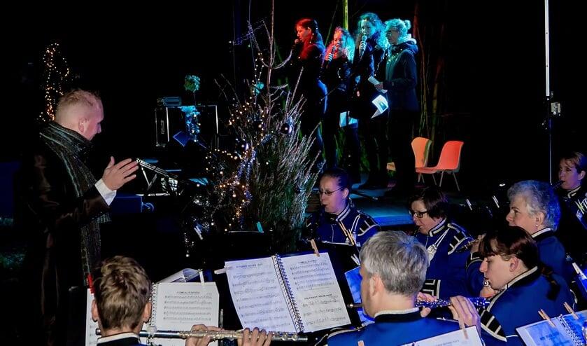 Kerstnachtviering in park De Houtkamp in 2015.
