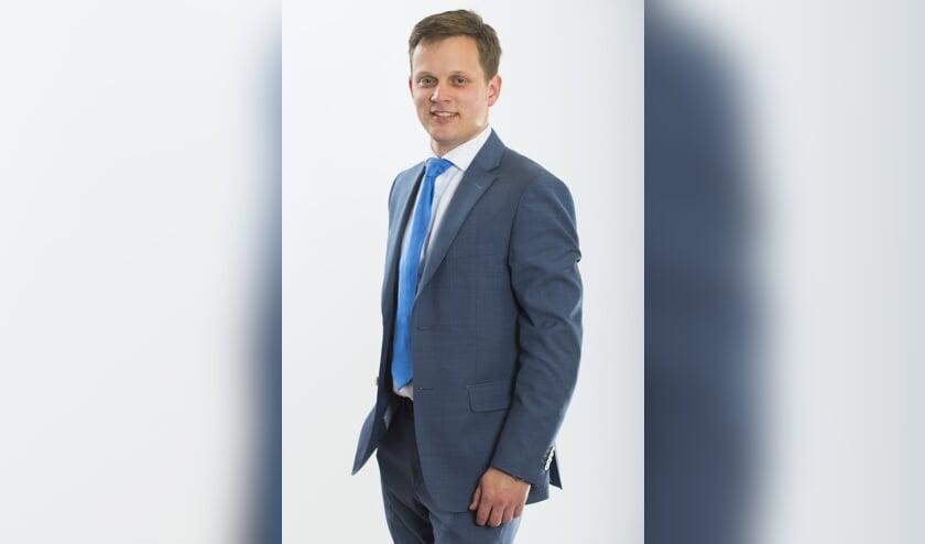 Lijsttrekker Geert Schipaanboord van de ChristenUni-SGP.    Foto: Cees vd Wal