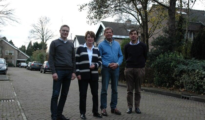 V.l.n.r. Jan Domburg, Tanja Stammers, Peter Vegt en Jan Adriaan Zonnevylle.